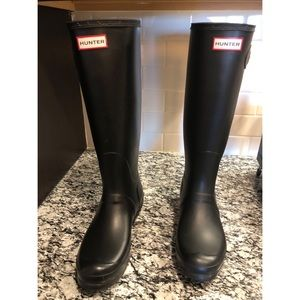 Hunter boots (black) - Original Tall US 9M/10F